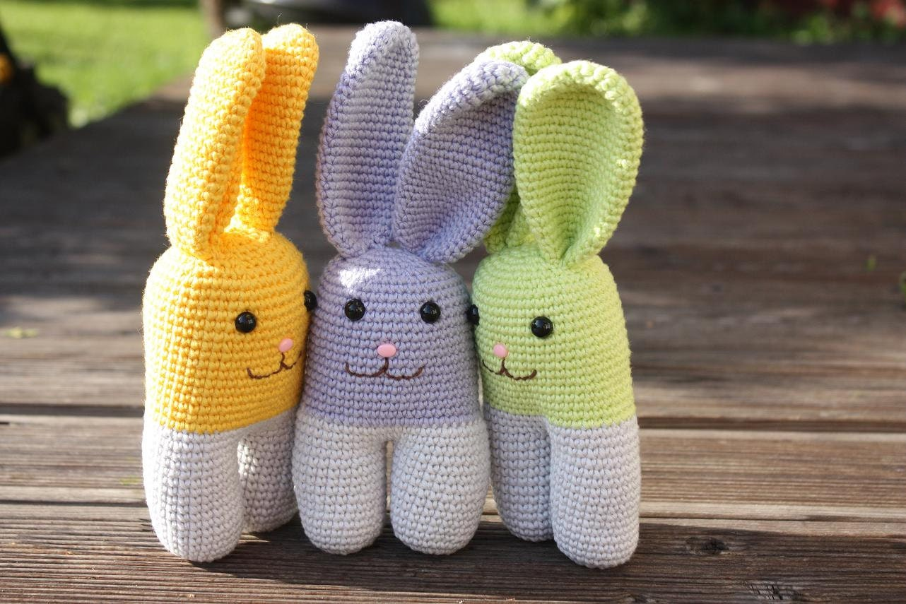 Crochet Amigurumi Bunny Tutorial : PATTERN Amigurumi Crochet Bunny PDF Tutorial by TinyAmigurumi