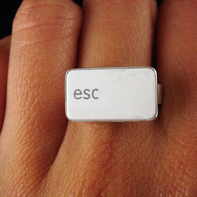 White Escape MacBook Key