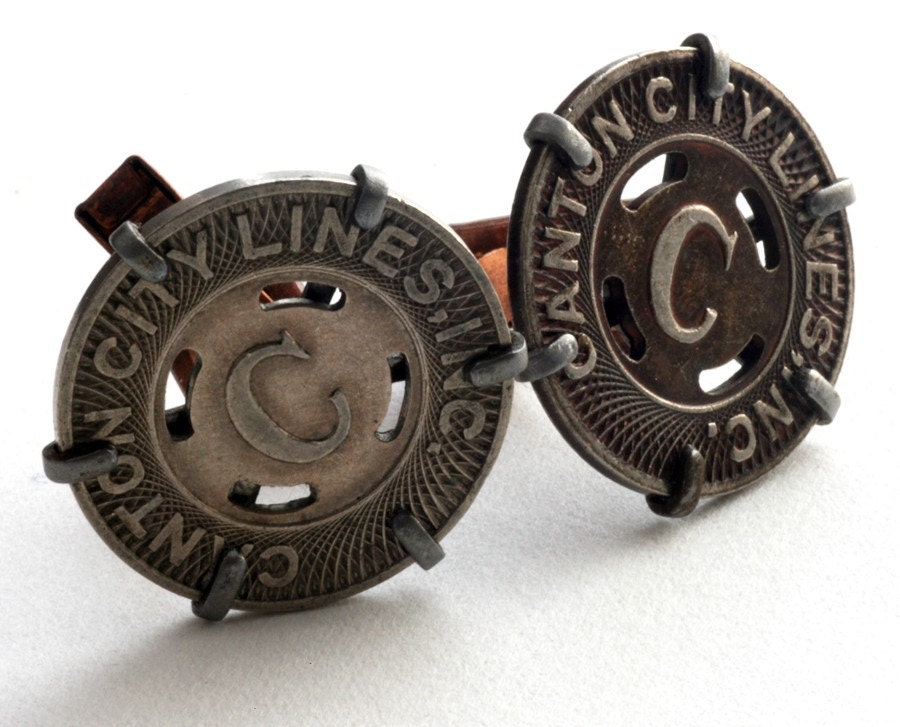 Canton City Lines Token Cufflinks