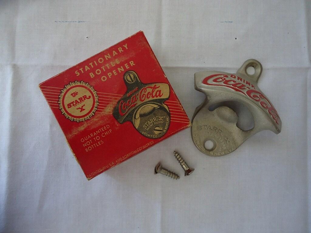 items similar to vintage starr x coca cola bottle opener. Black Bedroom Furniture Sets. Home Design Ideas