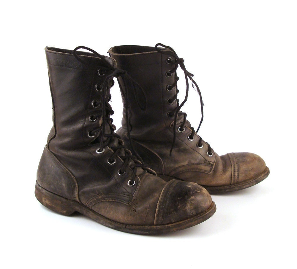 reserved combat boots distressed vintage by