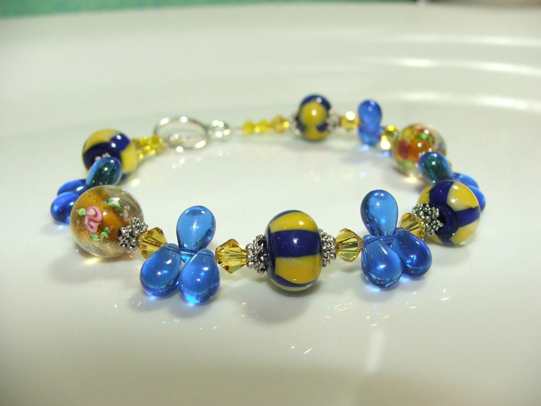 Carnival Sky lamp work bracelet