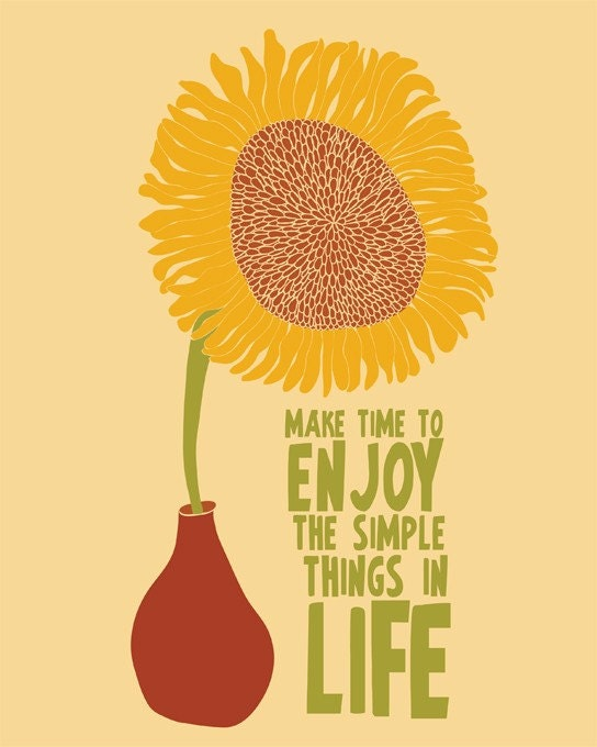 "Enjoy the Simple Things -(7 5/8"" x 9 5/8"" Size Print)"