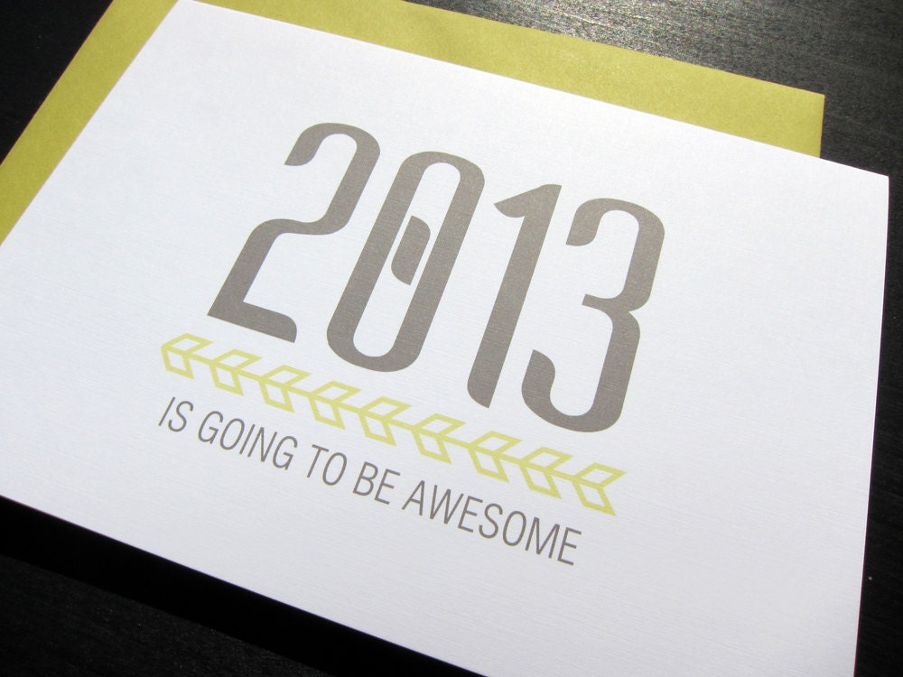 2013 is Going to Be Awesome: Single Card