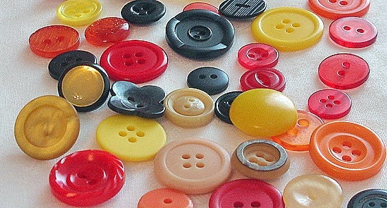 Backyard BBQ Scrapbooking and Craft Buttons