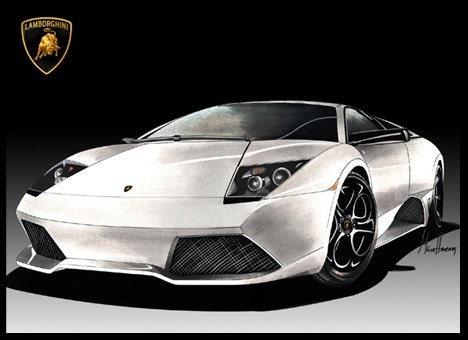 Lamborghini Murcielago LP 640 Versace S/N Limited Ed. Art Print