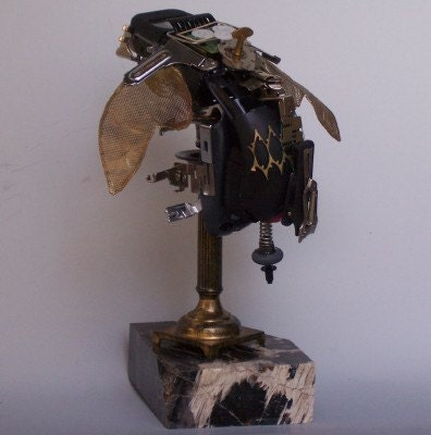 Steampunk Sculpture  Fantasy Insect Found Objects