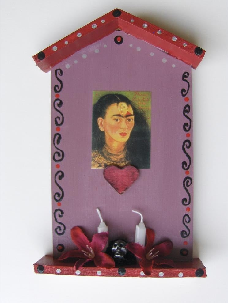 Frida Day of the Dead Retablo Shrine