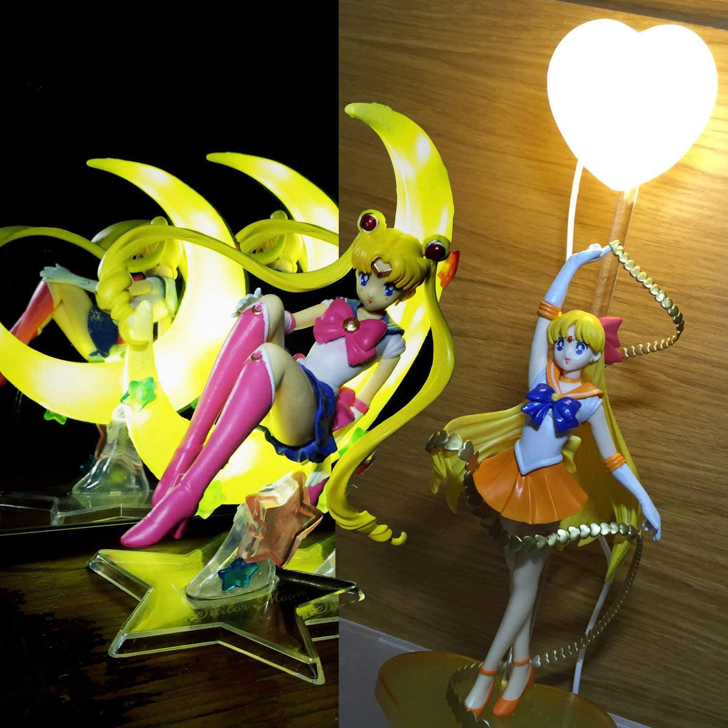 Moon Crest Light Lamp Toy Cartoon Anime Custom Usagi Figure Model