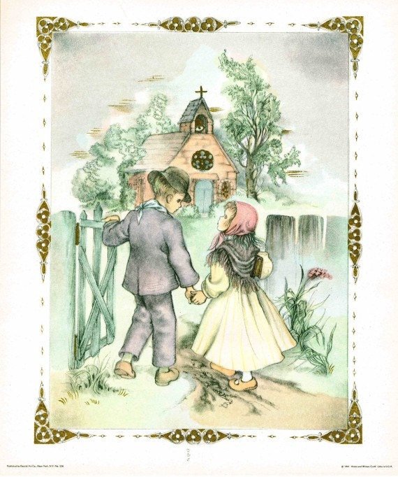 Items Similar To Children Holding Hands Walking To Church