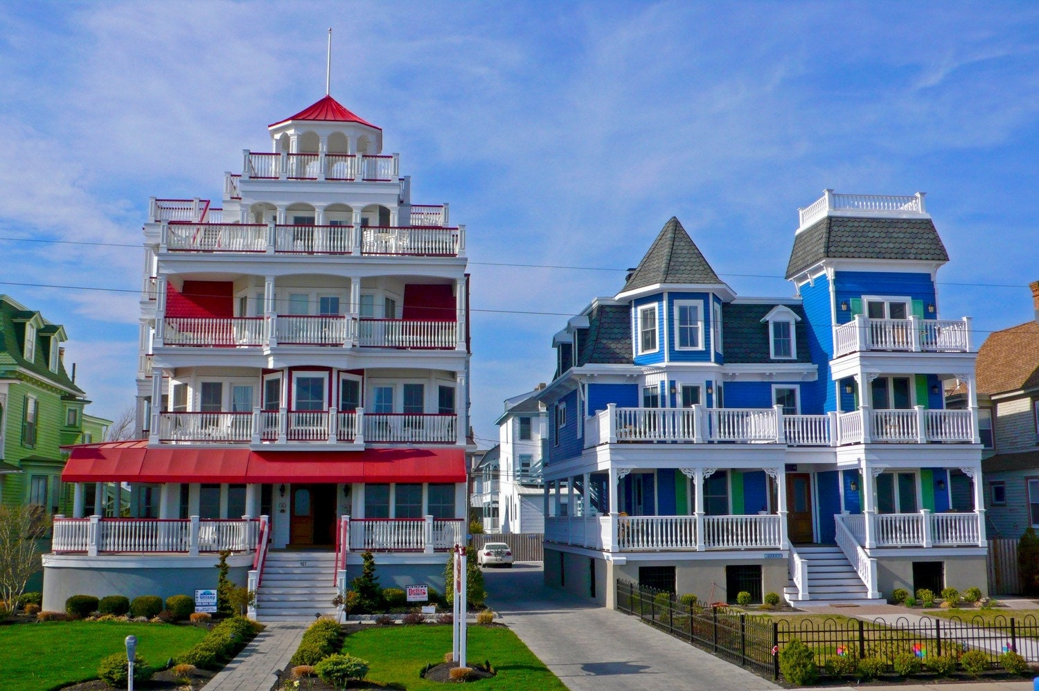 Cape May Victorian Houses Photograph 8x10 By Lifethroughmylens