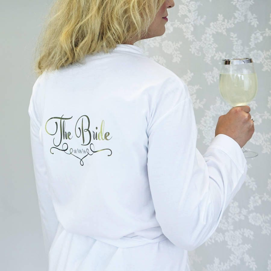 Bridal Robe  Bridal Party Robes  Personalized Bridal Robe  Bride Dressing Gown  Personalised Bride Dressing Gown
