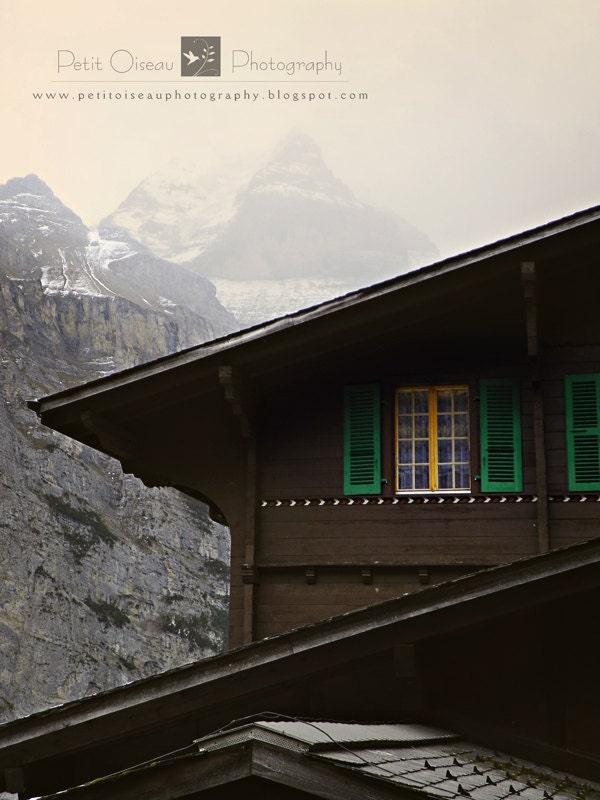 Chalet Amongst Misty Alps - (8x10) - petitoiseauphoto