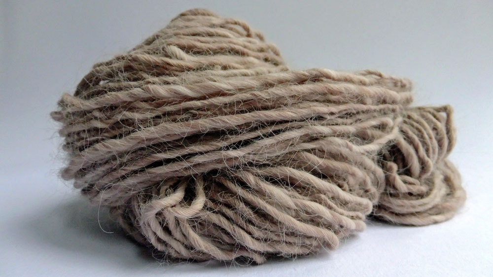 Sale - Victorian Lady - Faux Angora Handspun Yarn - 98 yards