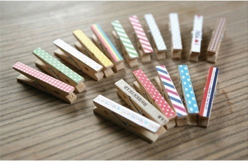 Reform Sticker with Wooden Clip Set (15pcs)