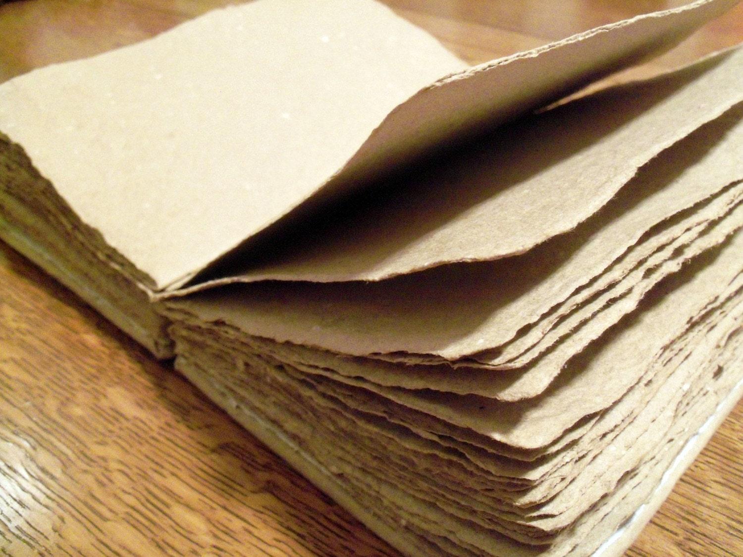 Brown recycled journal with handmade paper pages