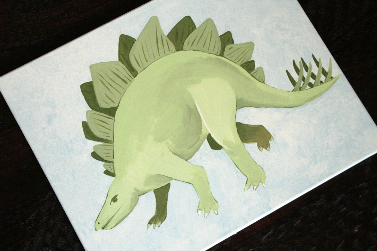 Stegosaurus, 16x20, READY YO SHIP