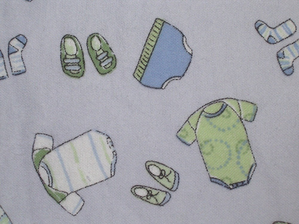 Flannel cotton print fabric baby boy by the yard by for Children s flannel fabric by the yard