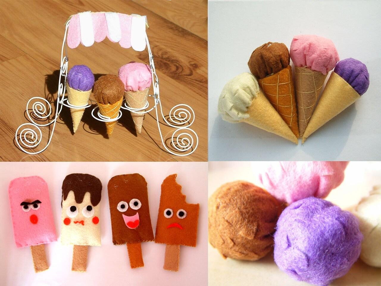 DIY Felt Ice CreamPDF Pattern And Instructions Via By Fairyfox