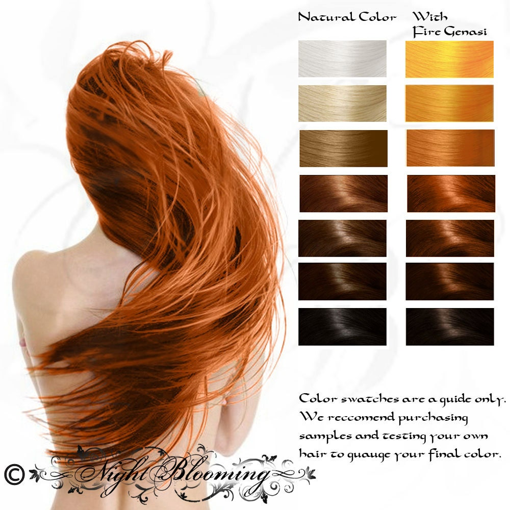 Bright Copper Fire Genasi Herbal Hair Color And By