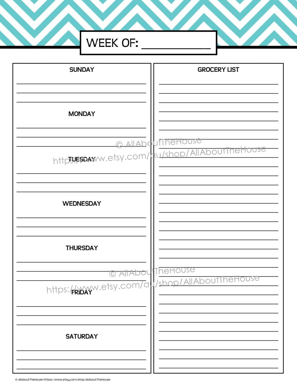 Blank Daily Calendar Template   Printable Editable Blank