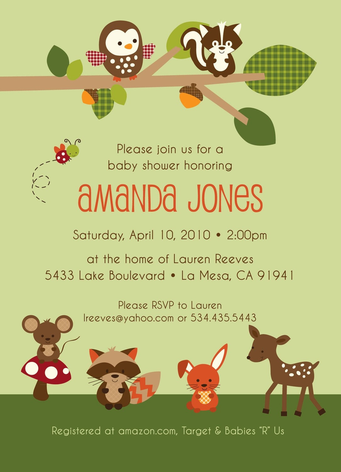 Forest Baby Shower Decorations