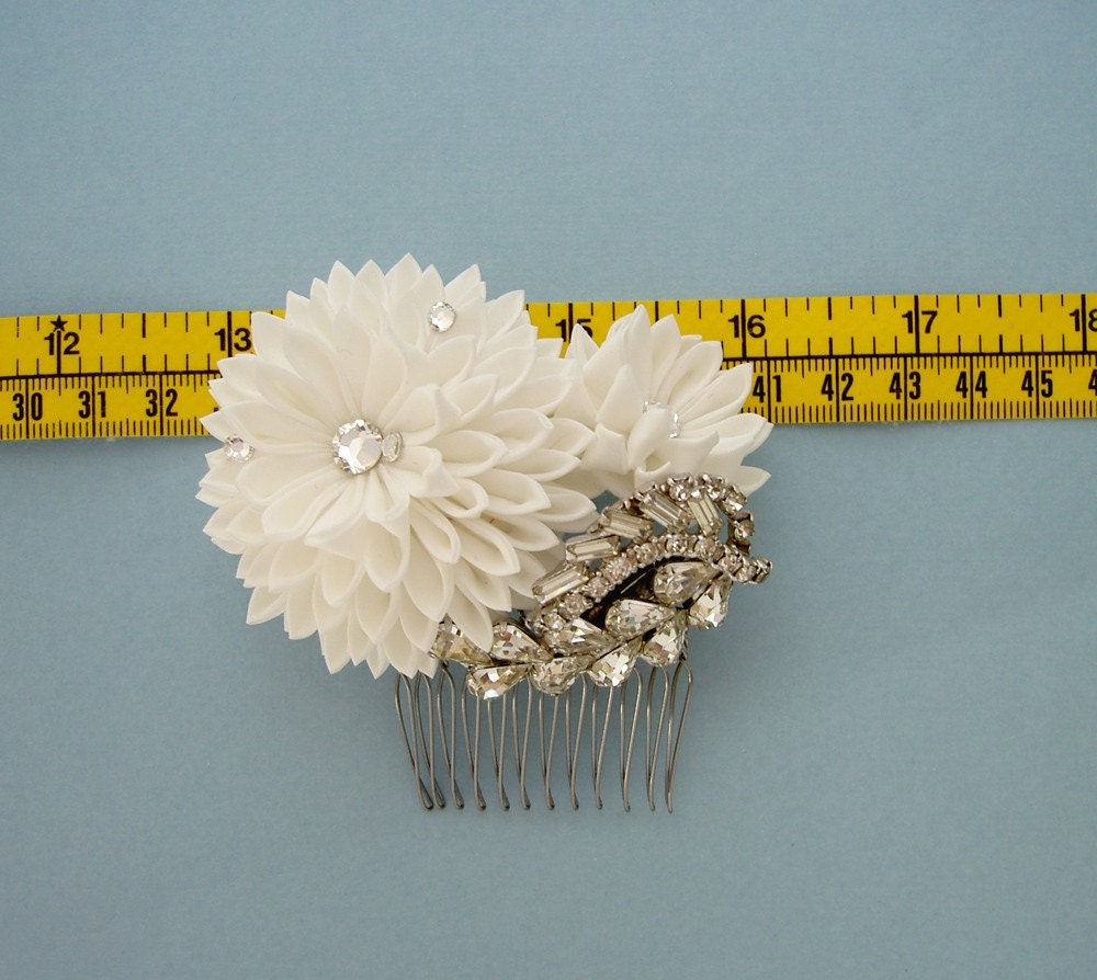 Bridal Bright Days Ahead Flower Fascinator Hair Comb