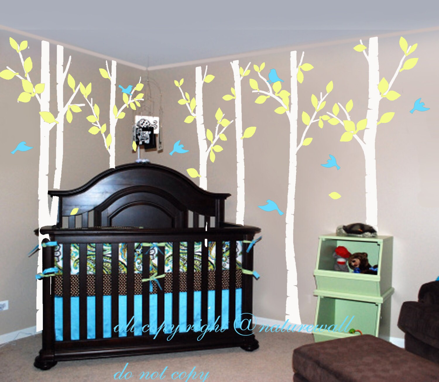 White Birch Tree Decals Kids Wall Decals Baby Decal By