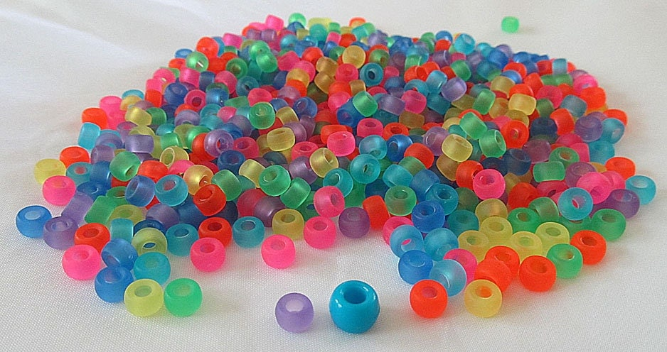 1000 mini multicolor frosted 6 5mm pony by