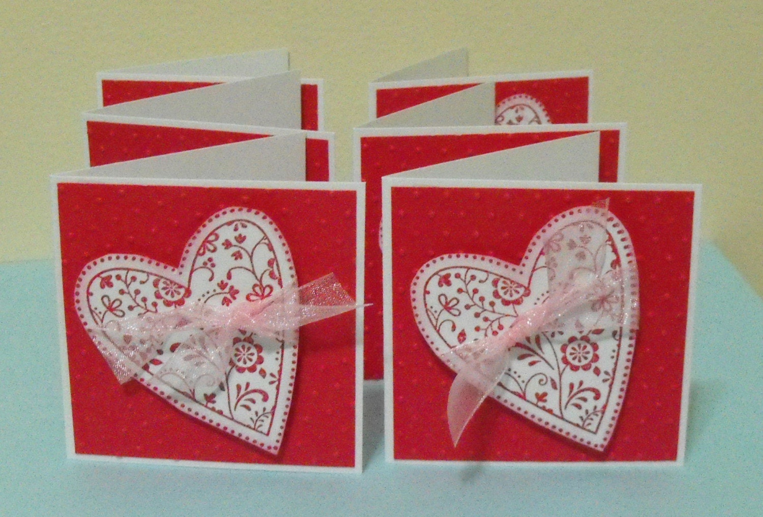 Heart Mini Note Cards set of 6