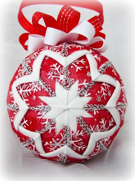 Discovered treasures quilted christmas balls