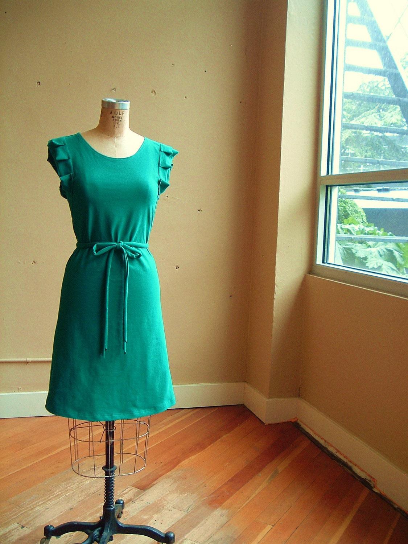 Teal green Present Dress cotton jersey