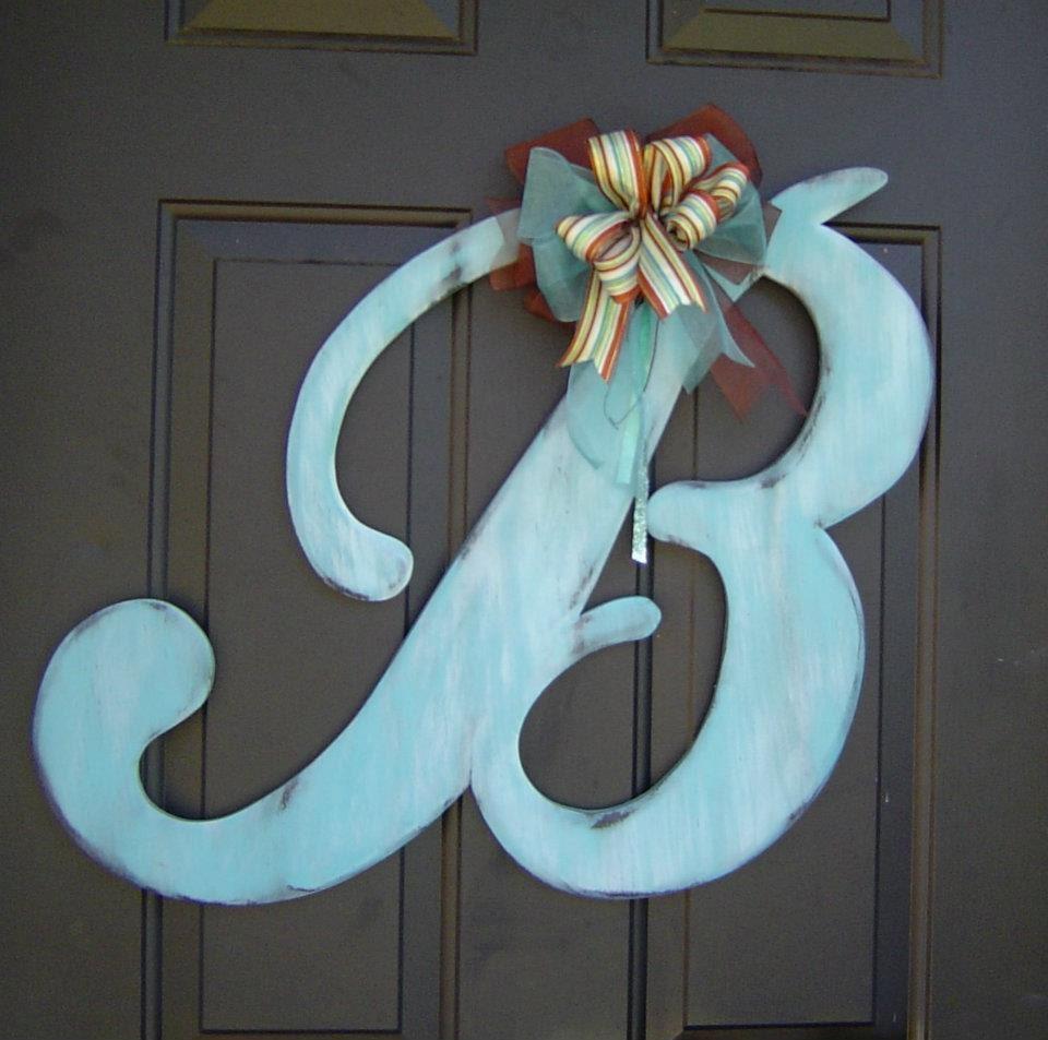 items similar to 193 wooden door hanger letter b astoria With letter b door hanger