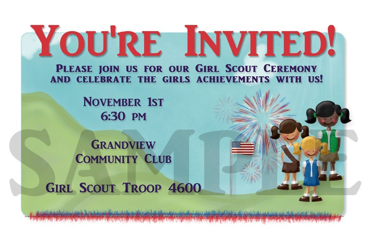 Girl Scout Bridging Ceremony Invitations as good invitations ideas