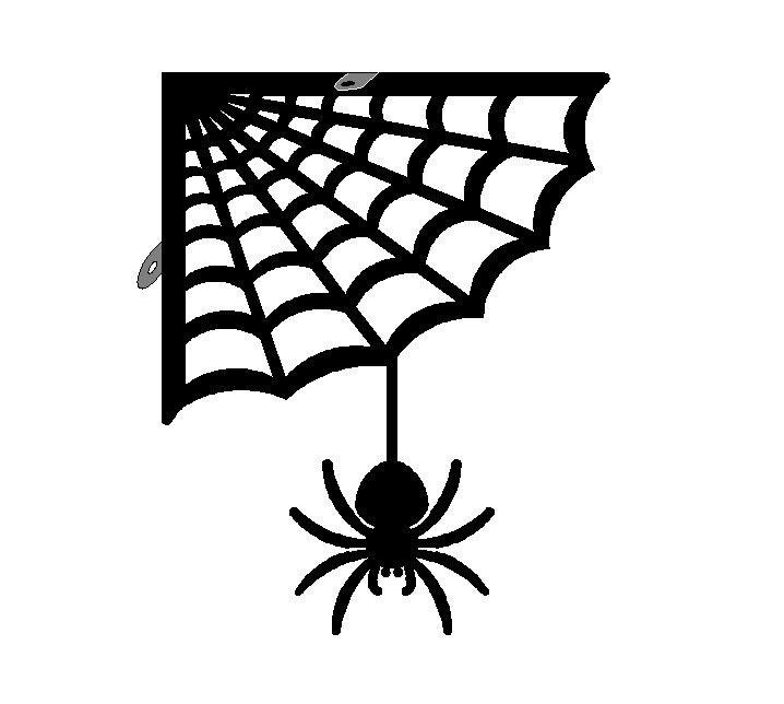 Spider With Web Corner Bracket O14