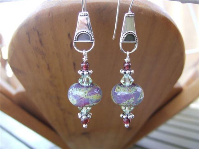 Purple Moss Earrings