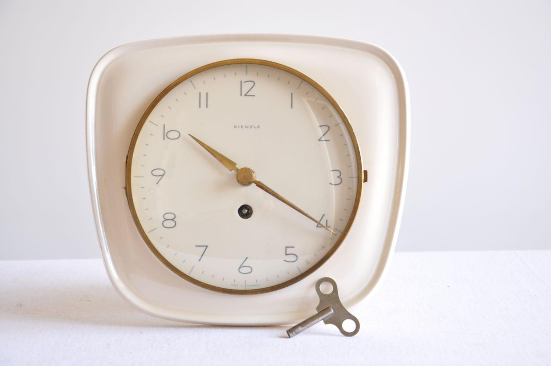 midcentury kienzle porcelain wall clock by thelittlebiker
