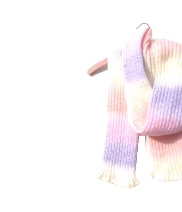 Unicorn Tail Scarf  Extra Long  Vintage Hand Knitted