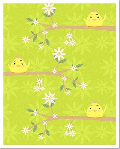 Birdie Trees 8 x 10 Matte or Glossy Photo Finish Poster