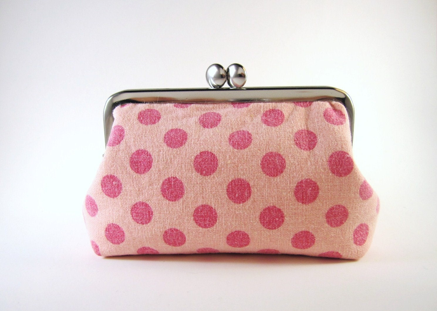 digital camera case- pink dots on light pink