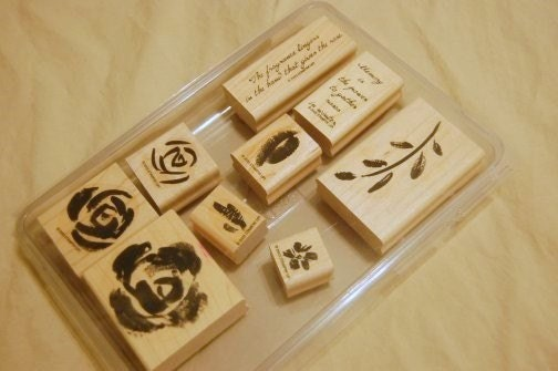 STAMPS - Roses and Phrases