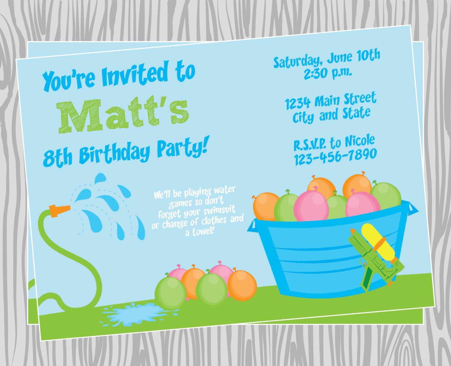 Water party invitations yeniscale water party invitations stopboris Gallery