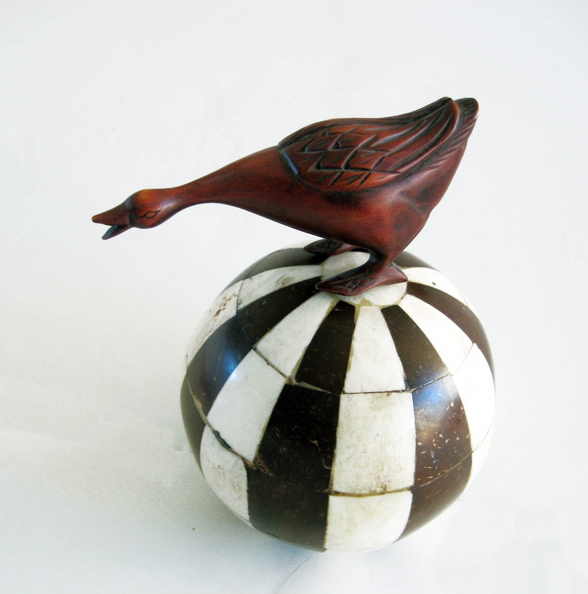 Long Necked Goose Carved Wood