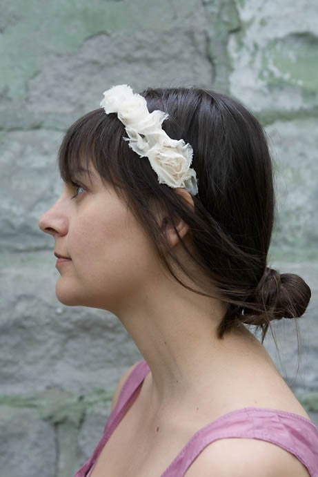 Two Tulle Flower Girl Headbands wedding flower girl headbands tulle