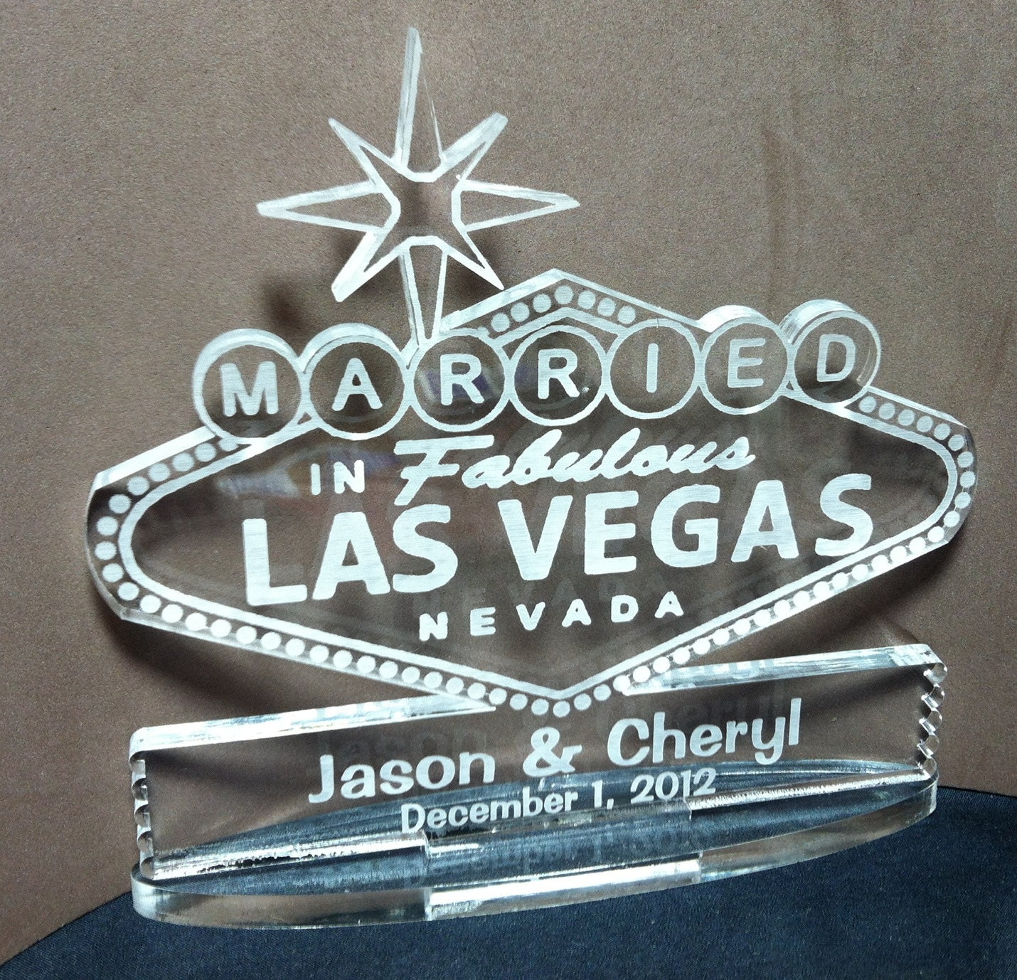 Las Vegas Sign Wedding Cake Toppers Unavailable Listing On Etsy