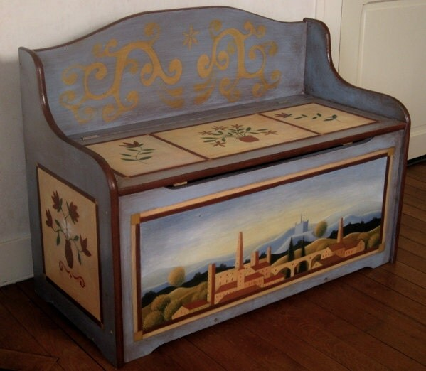 Items similar to hand painted chest painted furniture on Etsy