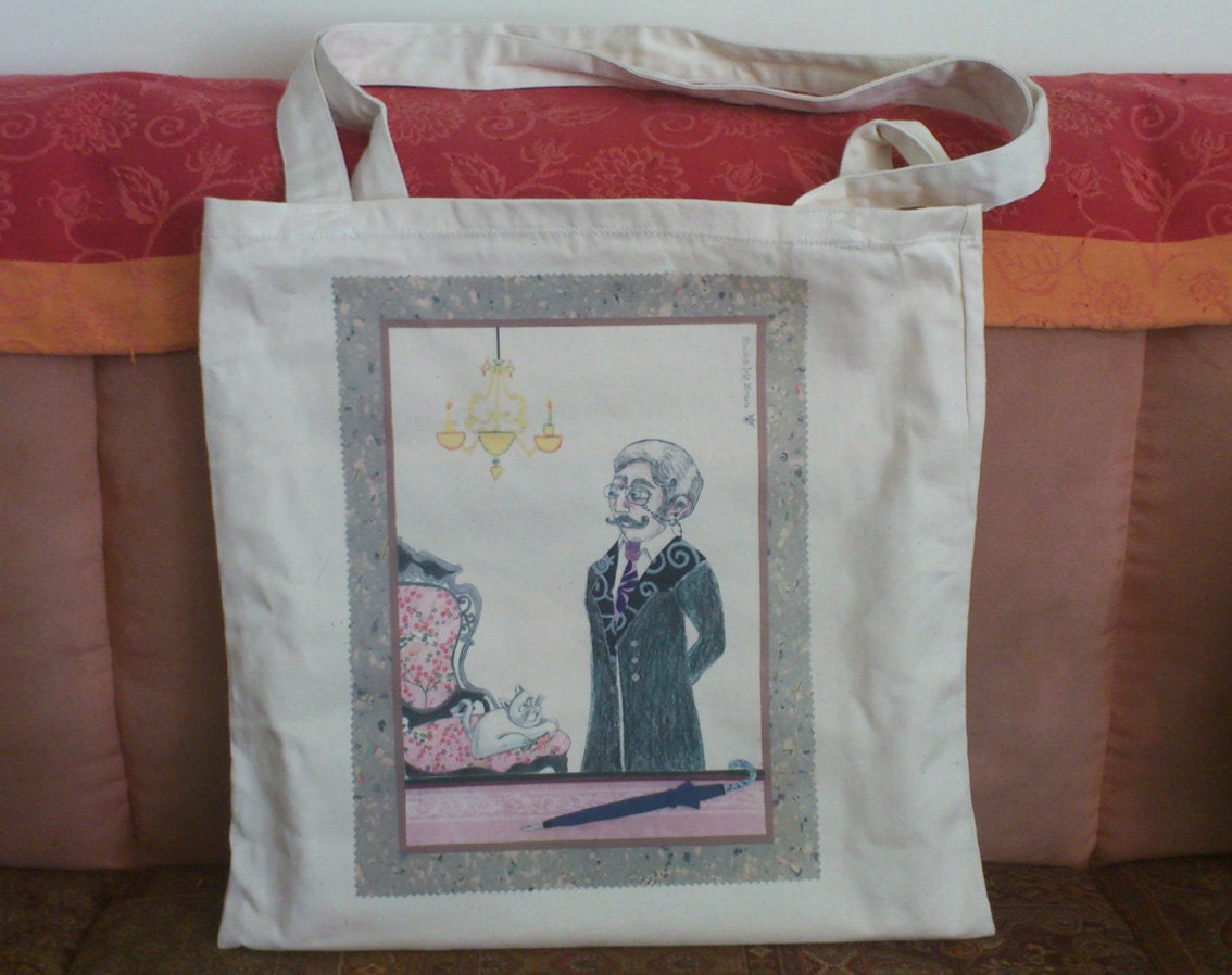 Man-and-Cat - Family - Collage Tote Bag