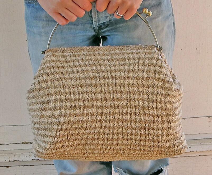 Raw Silk Carpet Bag