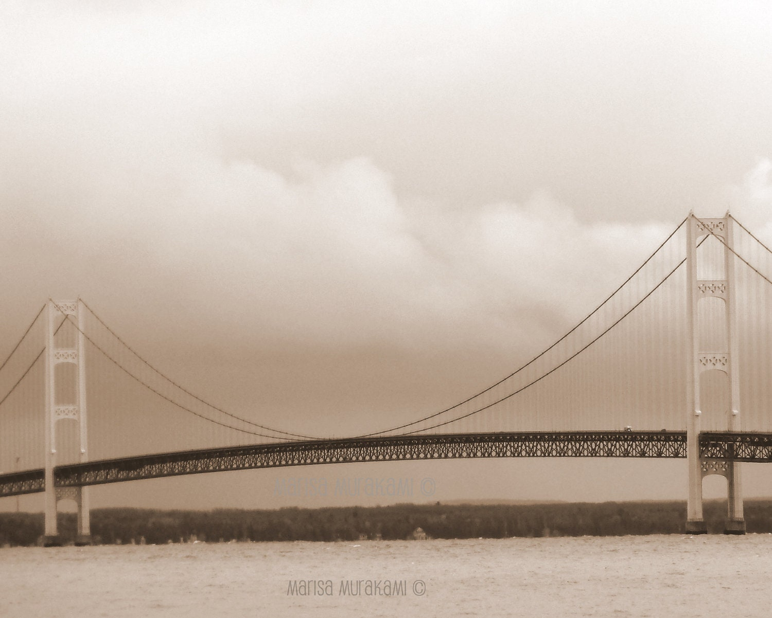 Dream like / Mackinac Bridge / Michigan / Upper Peninsula / Architecture / Landmark - sukoshishop