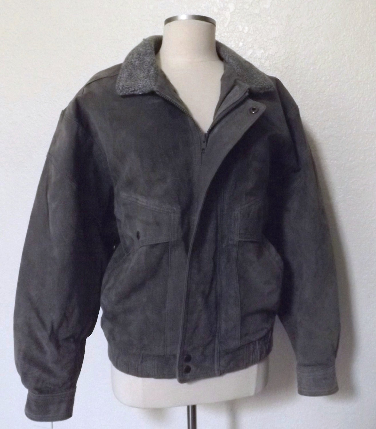 Vintage Suede Member S Only Bomber Jacket By